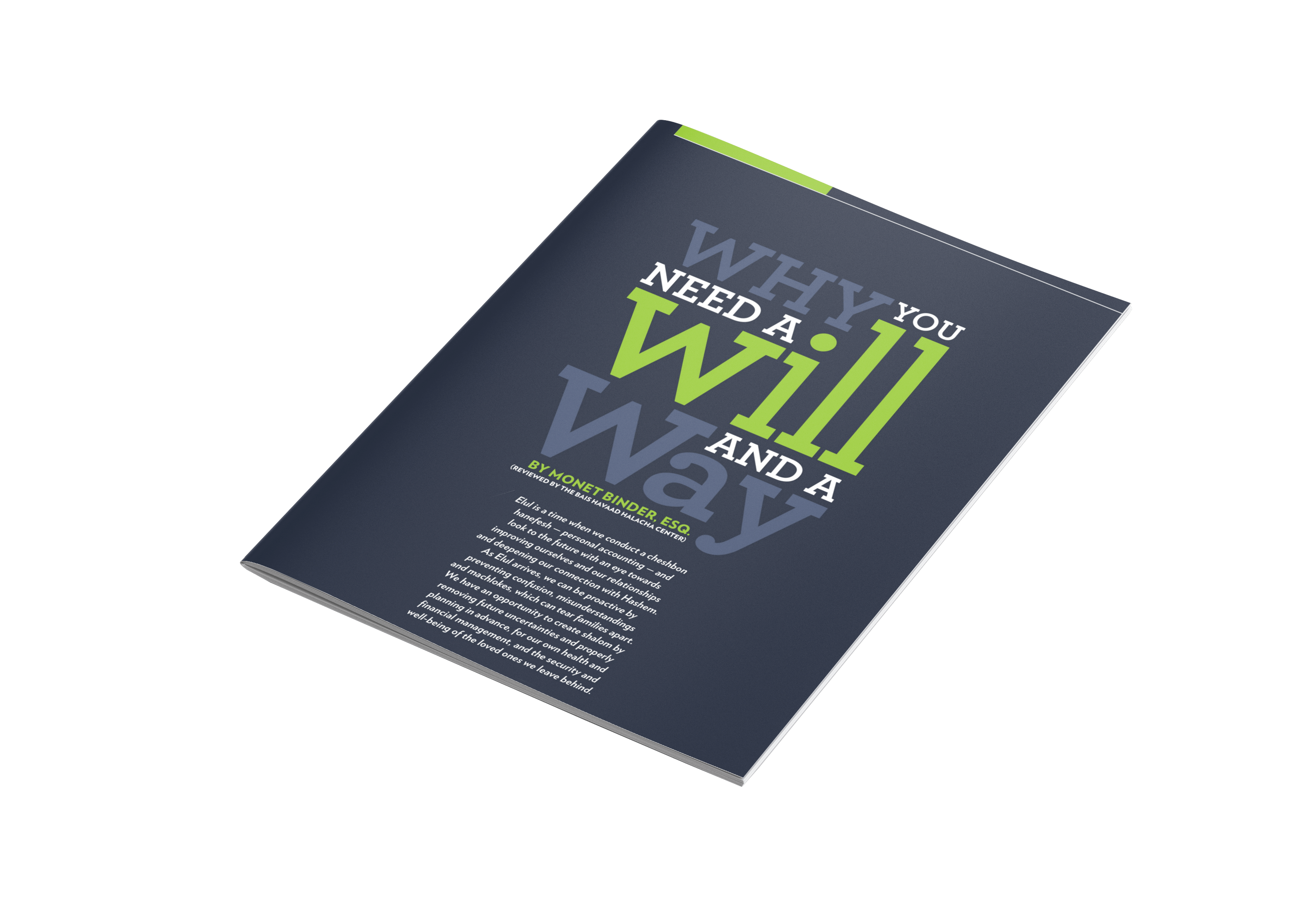 Will and a way pamphlet mockup